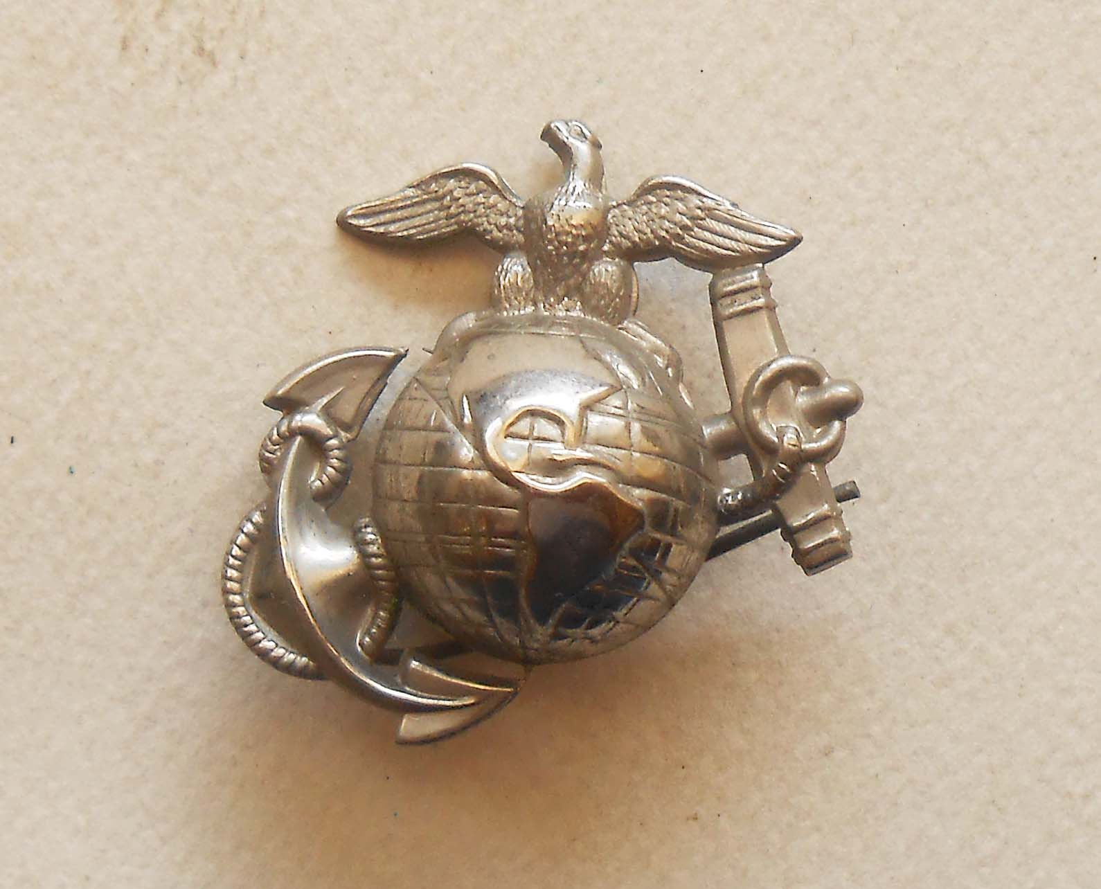 Marine corps insignia and memorabilia beautiful details on the obverse the eagles eye is especially fine the reverse shows both pins from local estate here in san diego 12500 sold aloadofball Choice Image