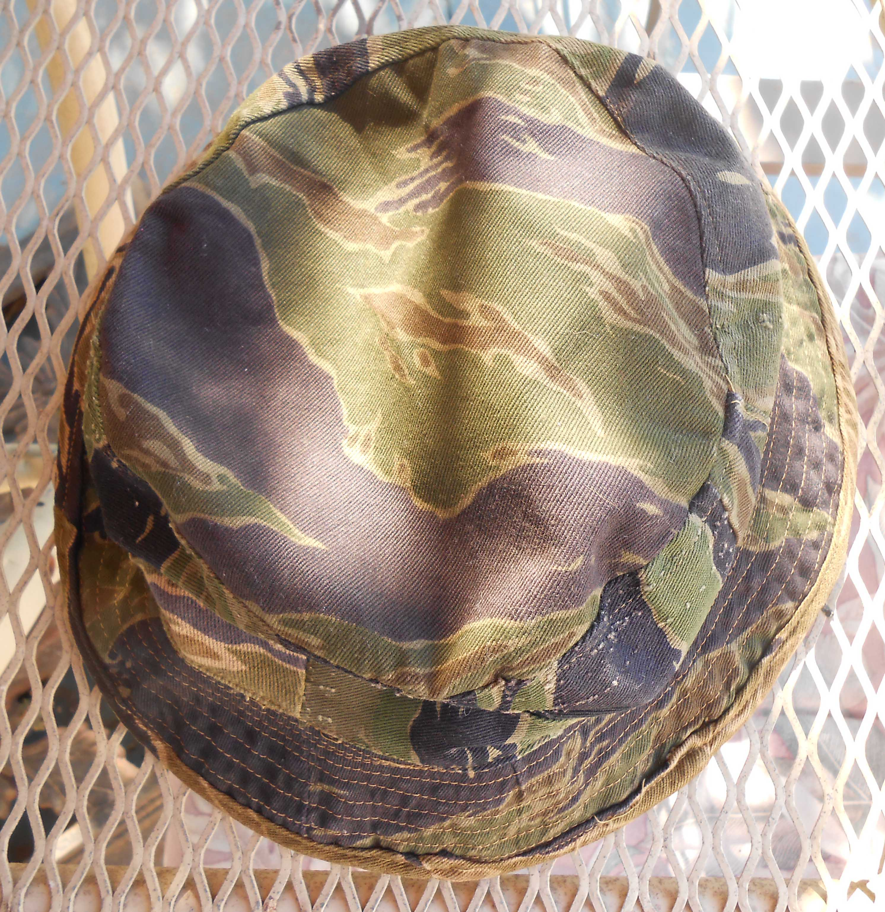 47439b50 Vietnamese made short brim tiger boonie. The body of this hat is made out  of at least four different patterns of tiger stripe, including both  patterns of ...